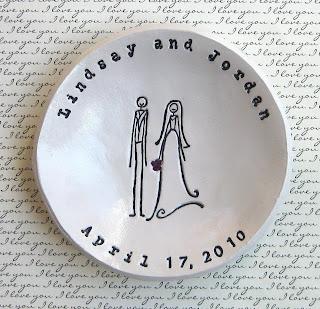 etsy stalkers, elm studios, etsy.com, custom ring plate, homemade wedding