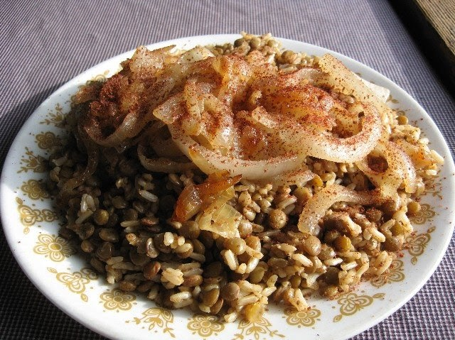 Vegan for the People: Mujaddara (Lentils and Rice with Fried Onions)