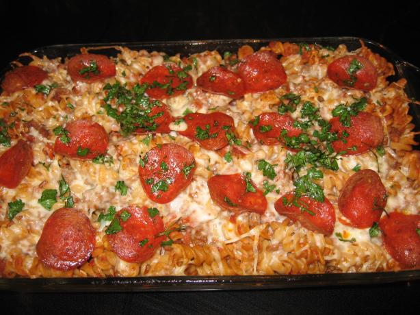 WTFrills: Pepperoni Pizza Casserole
