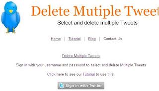 deletar,apagar,excluir todos os tweets em massa