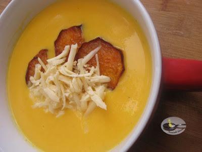 Supa crema de cartof dulce