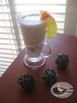 Spuma de cocos cu fructe uscate