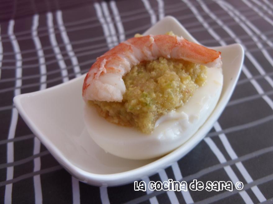 La Cocina de Sara: Huevos con Guacamole y Langostinos