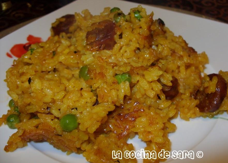 La cocina de sara paella de chorizo - Cocinas de sara ...