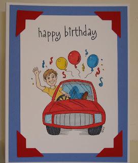 Kelly Creates: Driving Teens Happy Birthday Cards