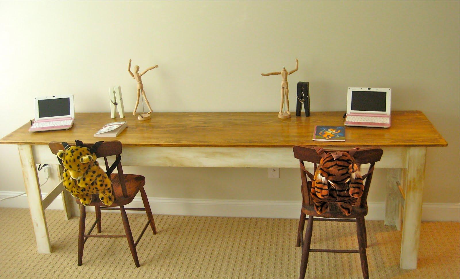 Deux Maison Knock offwood Narrow Farmhouse Table PLETED