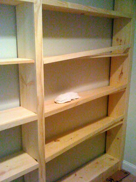 How to Build Built in Shelves DIY