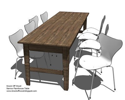 Deux maison building another ana white creation or two Narrow farmhouse table plans