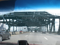 A view of the Piscataqua River Bridge through a windshield - from literaldan.blogspot.com