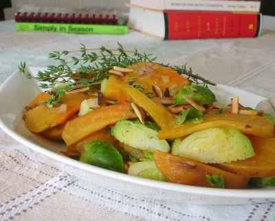 Colorful Side: Golden Beets with Brussels Sprouts ♥ | A Veggie ...
