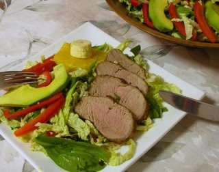Tropical Pork Tenderloin, pairs especially with Tropical Salad Supper