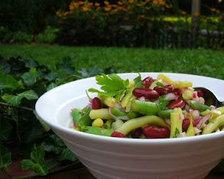 Not your mother's three-bean salad