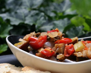 Caponata, the Sicilian spread of eggplant, onion, tomatoes, capers and more