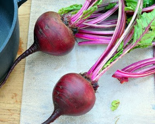 Clean the beets, especially the rough areas. But be gentle!