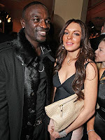 Akon and Lindsay Lohan- Grammy's '08
