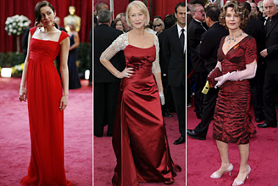 Red Gowns Oscar's '08