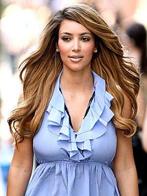 kim kardashian hair color. Kim Kardashian bandwagon