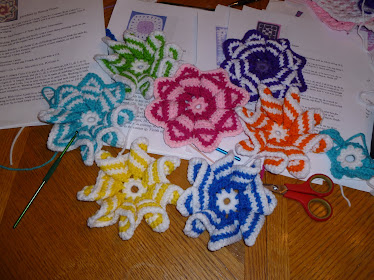 rainbow of pinwheels