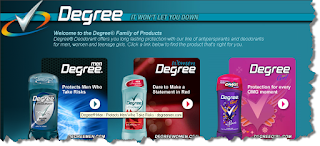 degree deodorant more adwords