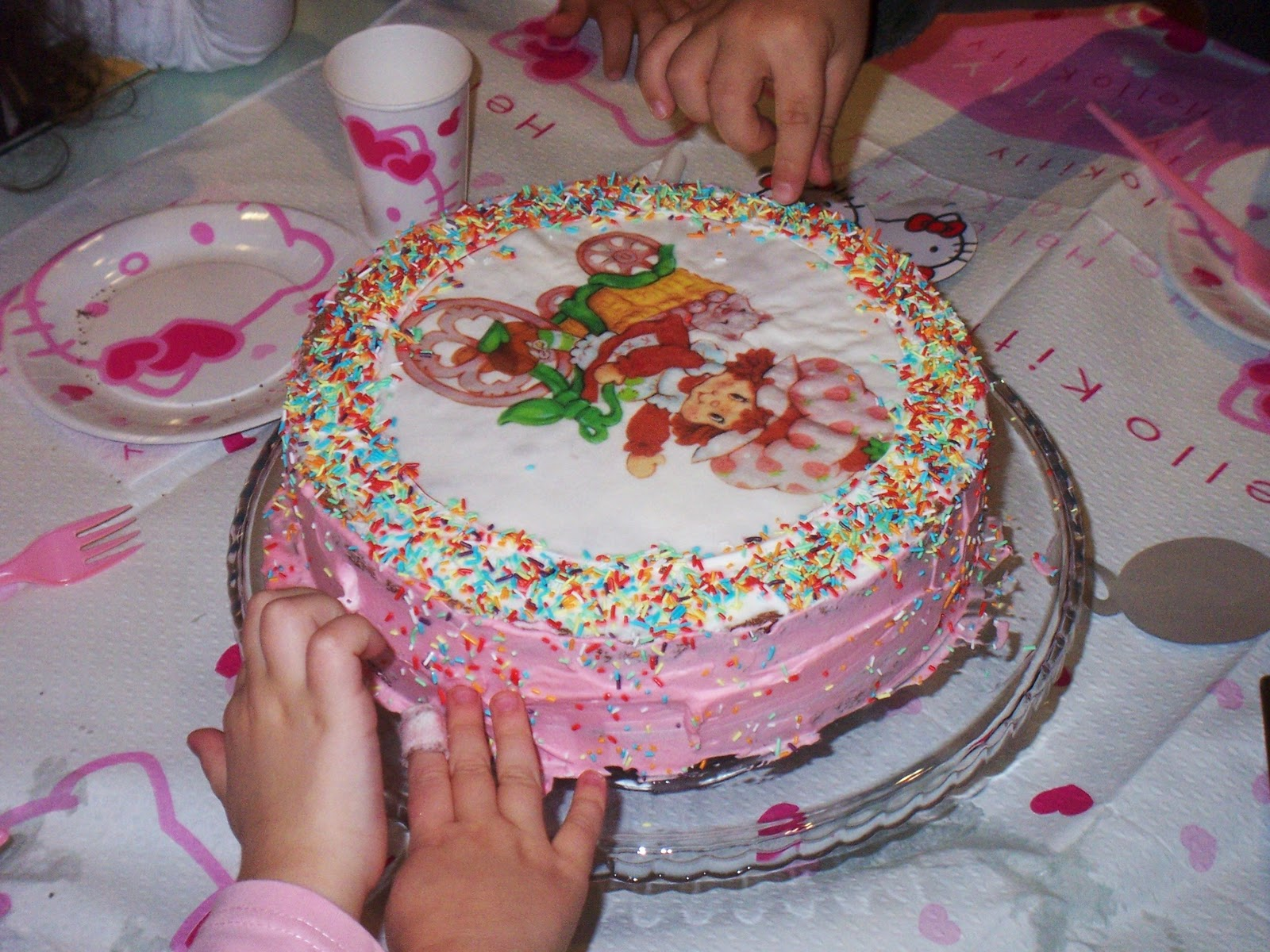 ... Memories: Scenes from the weekend: cakes, lasagna, vino and more cake