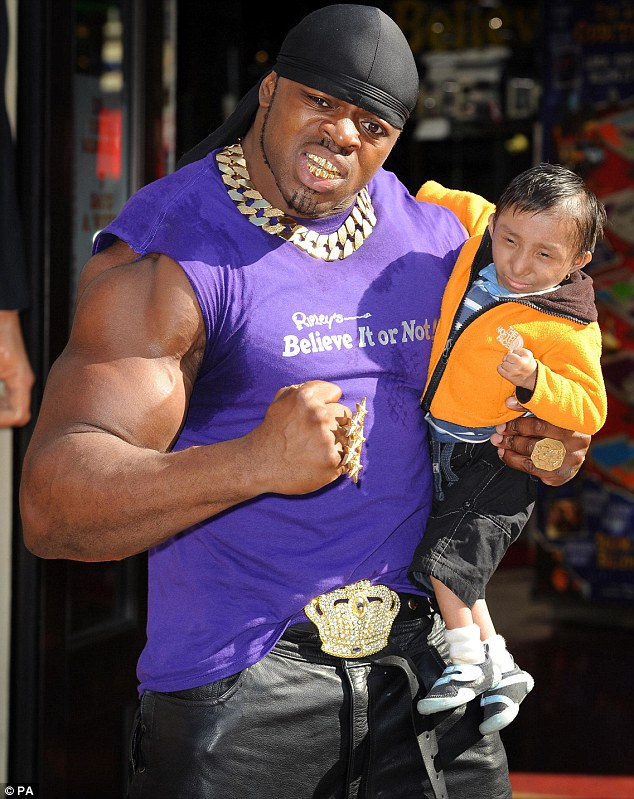 Worlds smallest teenager with worlds biggest biceps amazing pictures