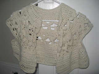 LC1485 Crochet Bolero - Sewing, Needlecraft, Thread, Textile