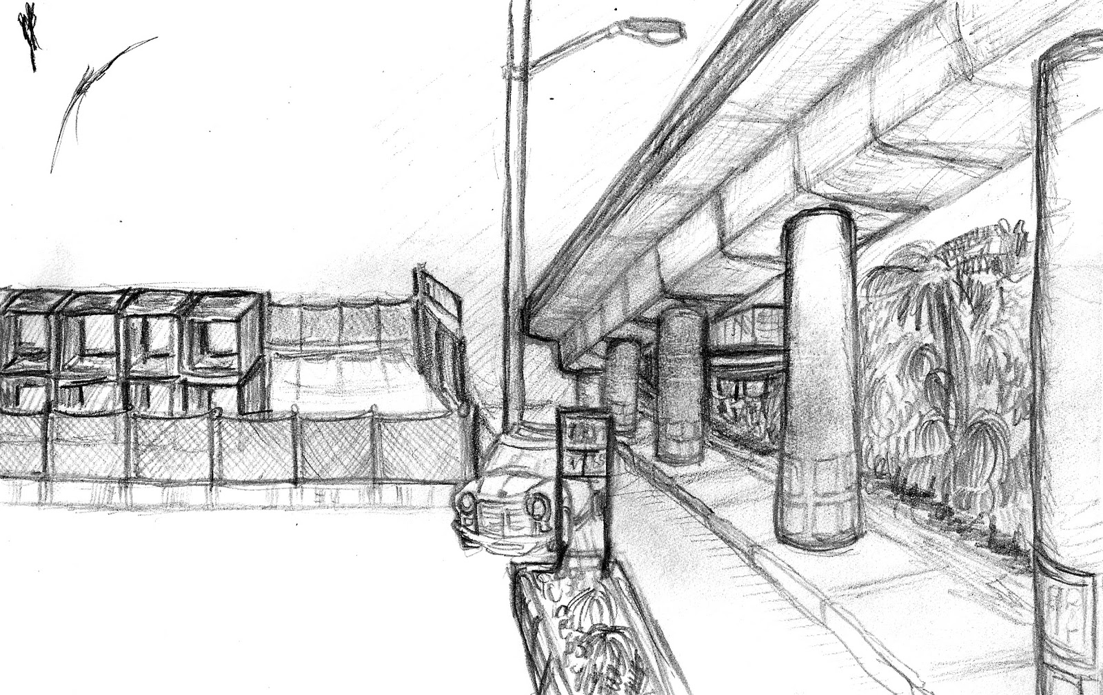 Railway Station Sketch