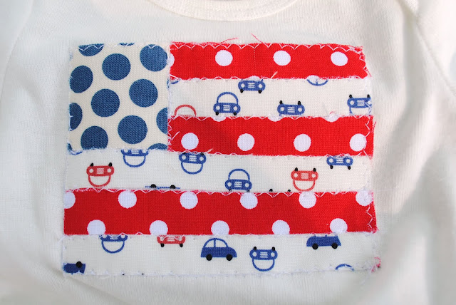 appliqued flag shirt