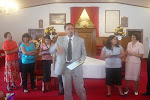 Rev. Eric Ministering at Walnut Grove