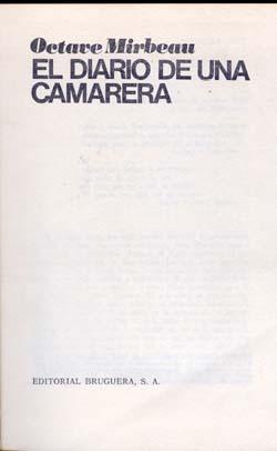 Traduction espagnole du Journal d'une femme de chambre