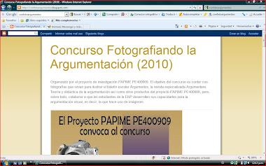 Blog del Concurso Fotografiando la argumentación (2010)