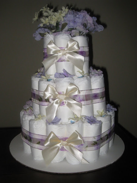 3 Tier Girl- Purple/Cream