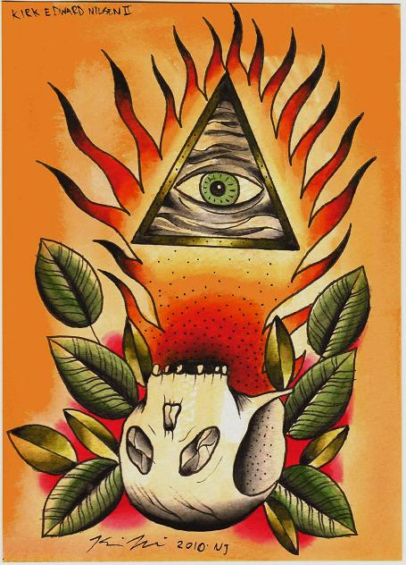 Illuminati. Aaahhhhh! (new painting, let me tattoo this, anybody!)