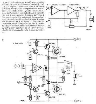 Audio Amplifier 100w Schematic TIP142 TIP147