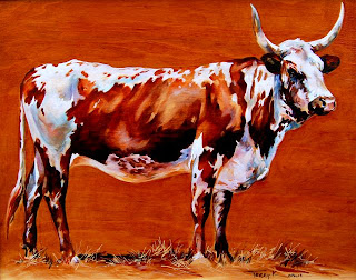 Nguni Rusty - Oil on Wood