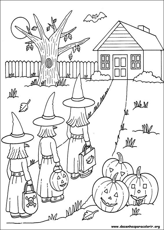 Menino grande colorir o halloween - Dessins a imprimer halloween ...