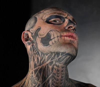 skull tattoo neck