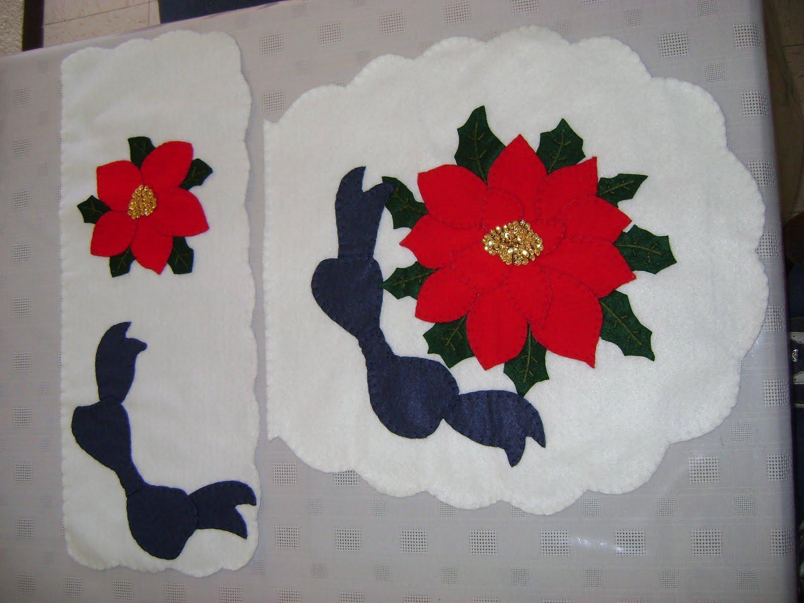 Juegos Baño Navidad Fieltro:Manualidades navideñas en fieltro: JUEGOS DE BAÑO