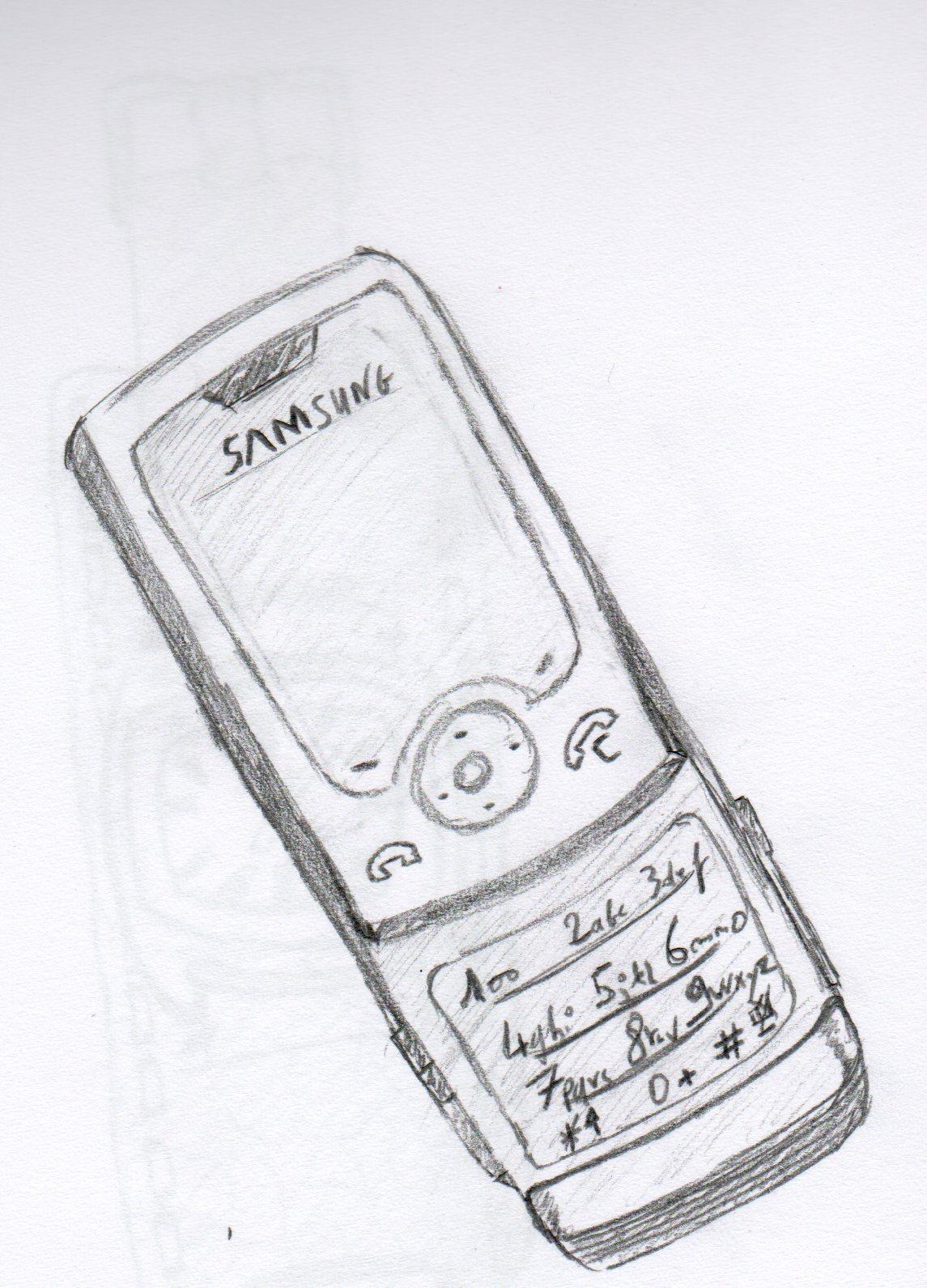 un jour un dessin jour 1 le t l phone portable. Black Bedroom Furniture Sets. Home Design Ideas