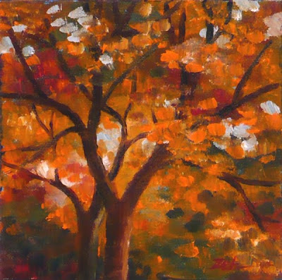 Autumn Maple tree oil painting by Janet Zeh