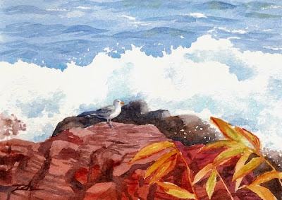 Marginal Way, Ogunquit, Maine seascape painting