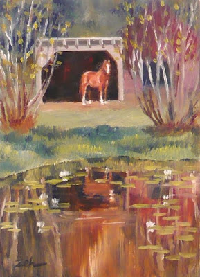 Horse and Lily Pond