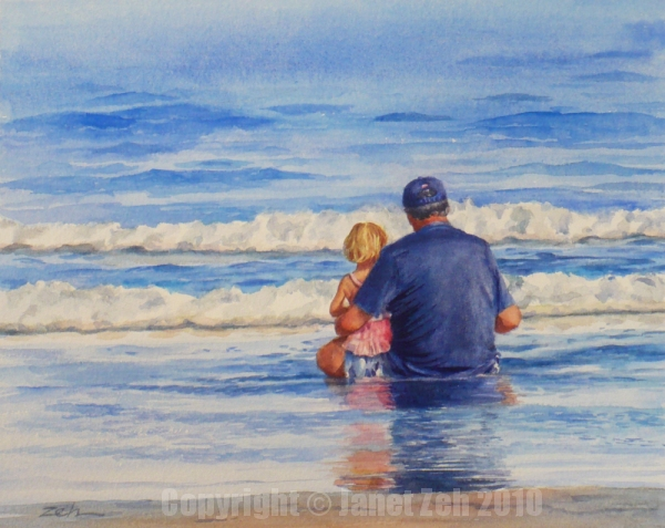 How to paint beach scene watercolor