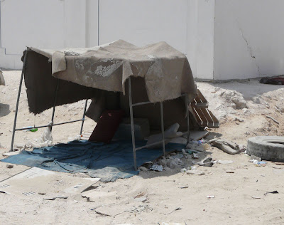 Worker's shelter in Qatar.