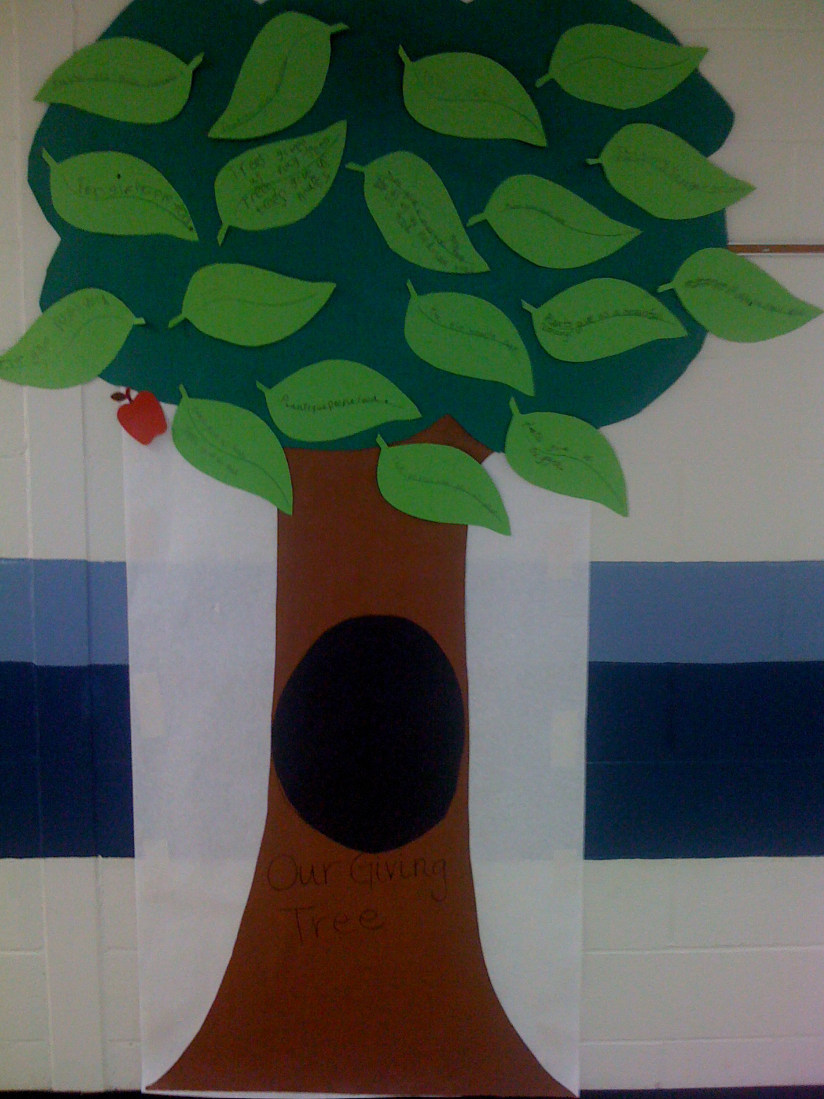 Classroom Giving Tree Ideas ~ Student teaching our classroom giving tree