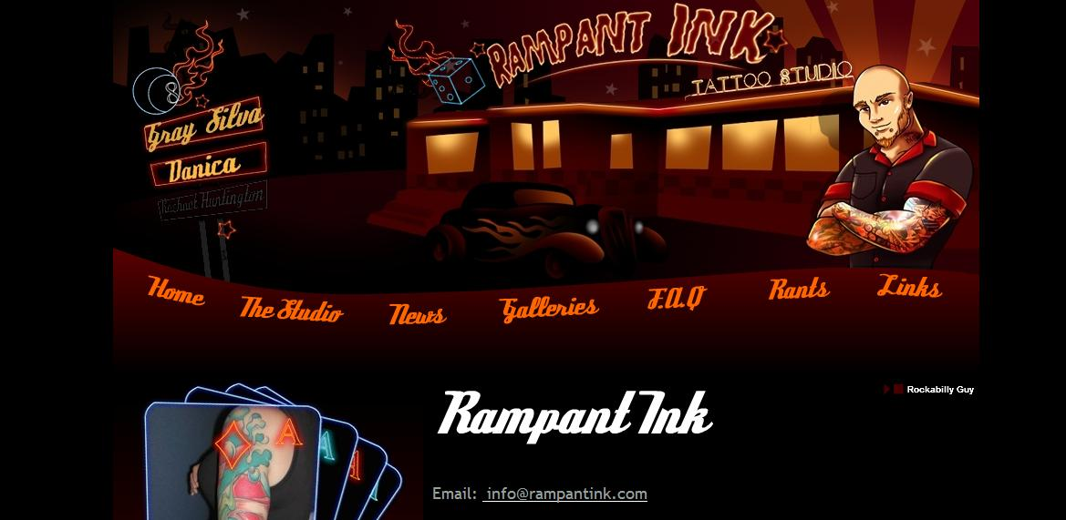 Ifinks nice tattoo shop website for Tattoo nightmares shop website