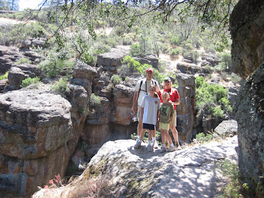 family on the Bear Gulch trail
