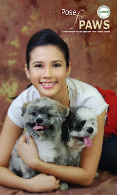 PAWS celebrity volunteer, Karylle, poses with her dogs, Jack and Kung-fu, to promote our latest fundraiser