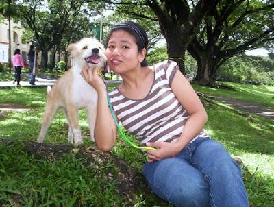 Julie and former shelter dog Missy!