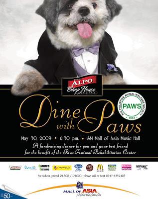 animal shelter fundraising: Dine With PAWS 2009
